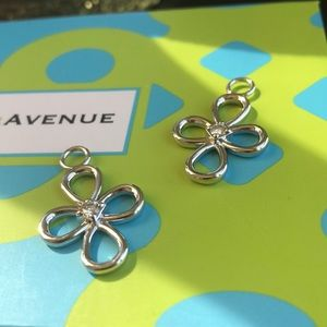 NWOT Charms only. Moissanite and sterling silver